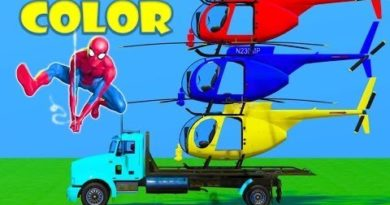 Spiderman Cars Colored Games Avengers Superheroes Spider-Man Lightning Mcqueen Cars Police Ironman