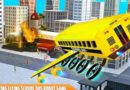 Flying School Bus Robot : Hero Robot Games