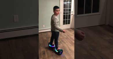 Spinning on hoverboard