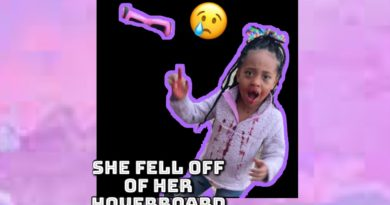 She fell off of her hoverboard 😢😱