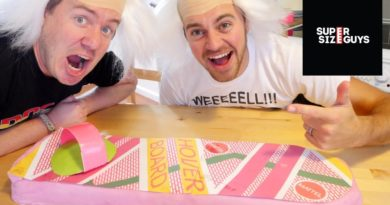We made an edible GIANT Chocolate Brownie Hoverboard! | Super Size Guys