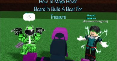 How To Make A Hoverboard In Build a boat for Treasure (Roblox)