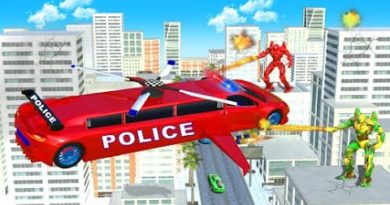 Flying Limo Police Helicopter | Rescue City Car Robot Android GamePlay | By Game Crazy