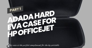 Adada Hard EVA Case for HP OfficeJet 250 All-in-One Portable Printer (CZ992A)