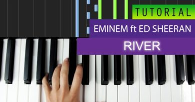 Eminem – River (feat. Ed Sheeran) Piano Tutorial + MIDI