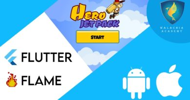 Hero Jet Pack – Add ads to your game/app Flutter Flame – Tutorial 39
