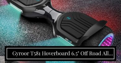 """Gyroor T581 Hoverboard 6.5"""" Off Road All Terrain Hoverboards with Bluetooth Speaker and LED Lig…"""