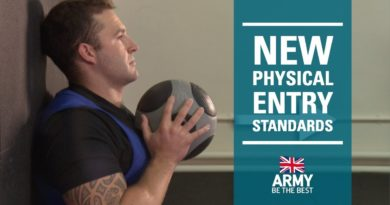 New Physical Entry Standards | British Army