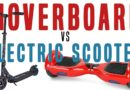 HOVERBOARD VS ELECTRIC SCOOTER BATTLE