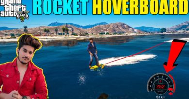 GTA 5 : MICHAEL DADA GOT ROCKET HOVERBOARD WITH EXTREME JUMP