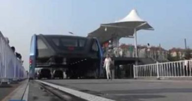 China's futuristic elevated bus prototype is now a real thing