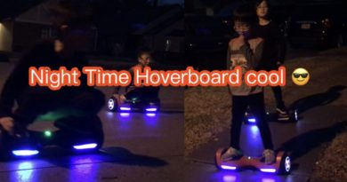Night time hoverboard time