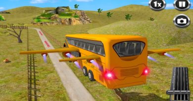 Flying Bus Driving Simulator – School bus driving game 2021 – Android Gameplay