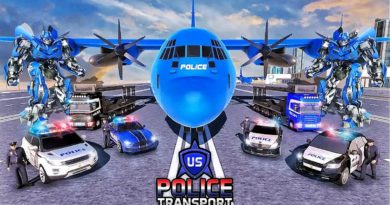US POLICE ROBOT TRANSFORM SIMULATOR ANDROID GAMEPLAY | POLICE PLANE TRANSPORT | BY ATHARVA KADU