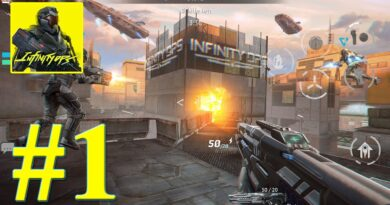 Infinity Ops Online FPS Cyberpunk Shooter #1 Gameplay Walkthrough (Android, iOS)