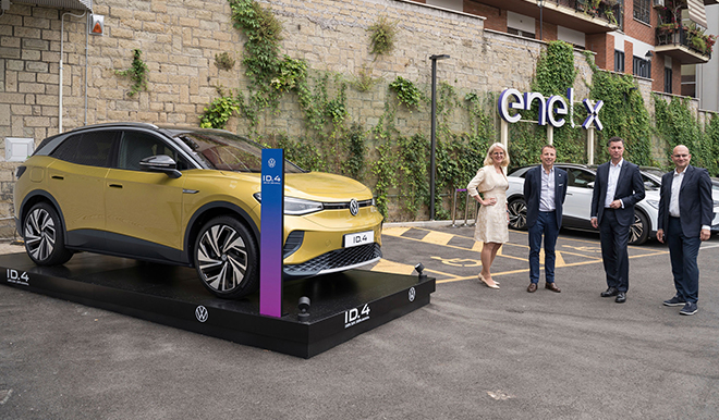 Charged EVs | Enel X and Volkswagen collaborate to deploy fast charging network in Italy