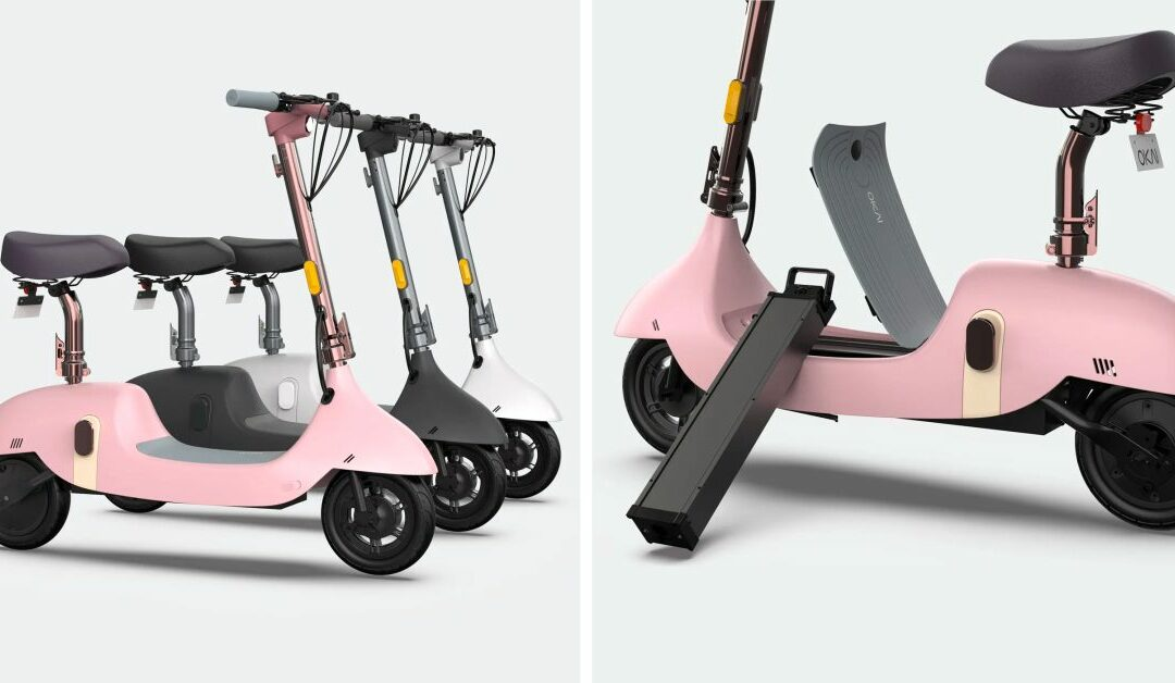 OKAI's cute little seated electric scooters are high-tech slowpokes