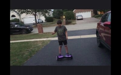 Me on hoverboard