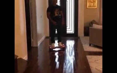 Mike Tyson Breaks back on Hoverboard…Spinal
