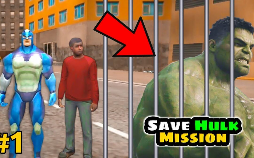 How to help Hulk to escape the jail | Rope hero vice town Hulk | rope hero vice town