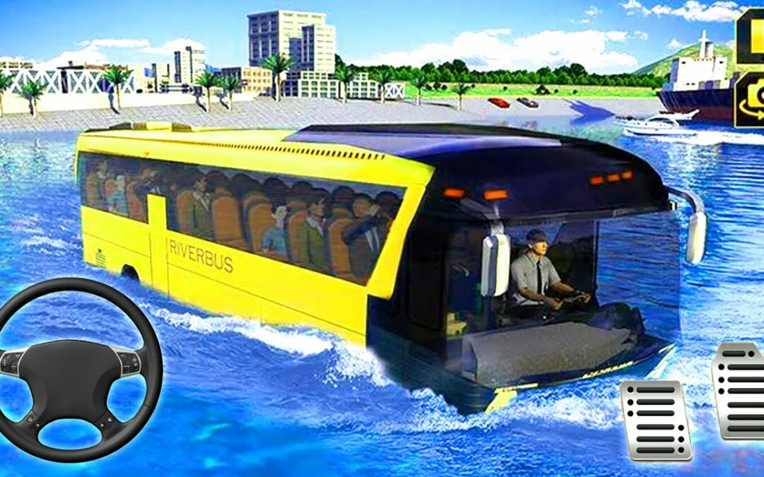River Coach Bus Simulator Game 2021 | Water Bus Game Drive – Android Gameplay