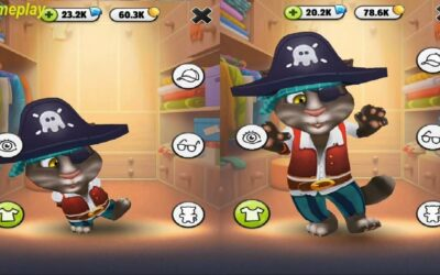 My Talking Tom Little VS large Gameplay Great Makeover for Children HD