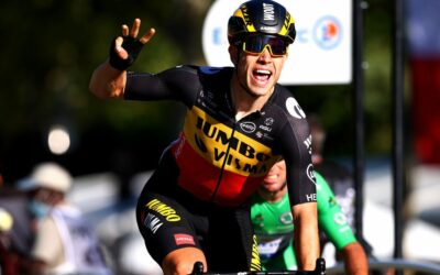 Tour of Britain: Wout van Aert wins opening stage